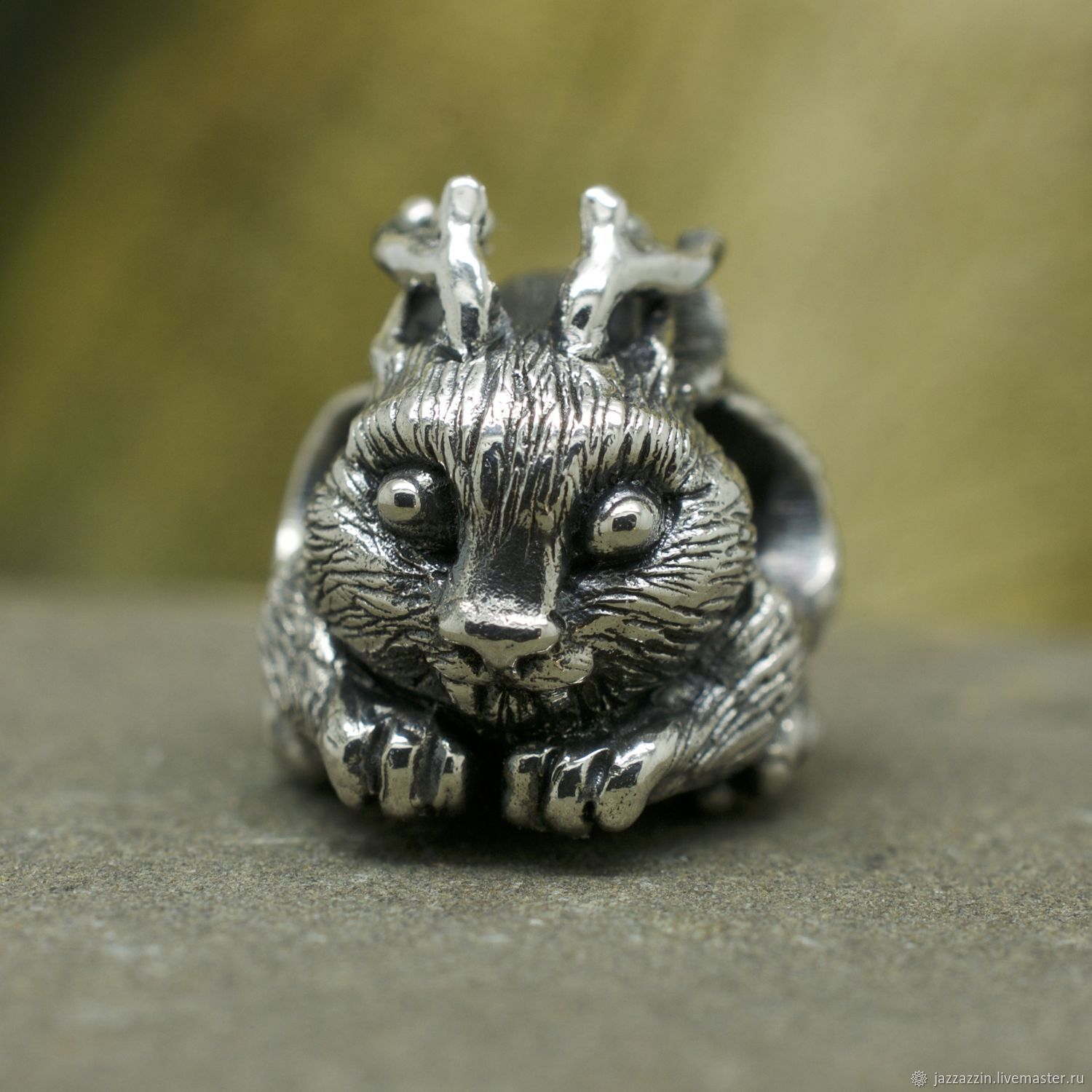 "All for Jewelry Making handmade. Livemaster - handmade. Buy Бусина ""Кролень"".Fantasy, wolpertinger"
