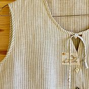 "Одежда ручной работы. Ярмарка Мастеров - ручная работа Блузка льняная "" Отпускная"". Handmade."