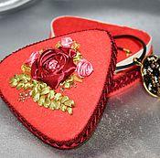 "Для дома и интерьера handmade. Livemaster - original item Box, flowers, ribbon, jewelry box with flowers ""Coral"". Handmade."