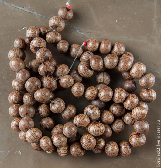 Для украшений ручной работы. Ярмарка Мастеров - ручная работа. Купить Круглые бусины из семян Batikan, 9 мм. Handmade.