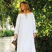 Одежда handmade. Livemaster - original item Tunic dress (flax and cotton). Handmade.