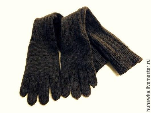 """Варежки, митенки, перчатки ручной работы. Ярмарка Мастеров - ручная работа. Купить перчатки вязаные унисекс  """"ШОКОМОКОЛАД"""". Handmade. Коричневый"""