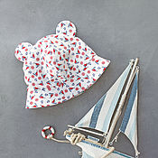 Аксессуары handmade. Livemaster - original item Children`s Panama - Sea. Handmade.