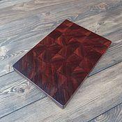 Доски ручной работы. Ярмарка Мастеров - ручная работа Торцевая разделочная доска из Африканского красного дерева Сапеле. Handmade.