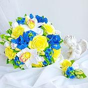 Свадебный салон ручной работы. Ярмарка Мастеров - ручная работа Свадебный букет с ирисами. Handmade.