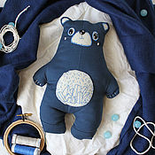 Куклы и игрушки ручной работы. Ярмарка Мастеров - ручная работа Текстильный медвежонок. Handmade.