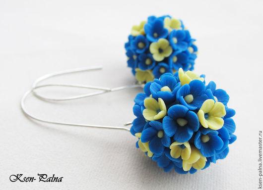 """Серьги ручной работы. Ярмарка Мастеров - ручная работа. Купить Серьги """"Незабудки"""". Handmade. Синий, серьги, синие цветы"""
