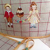 Sets handmade. Livemaster - original item Kitchen set hand cross stitch. Handmade.