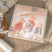 """Подарки к праздникам ручной работы. Ярмарка Мастеров - ручная работа шкатулка"""" Веселая компания"""". Handmade."""