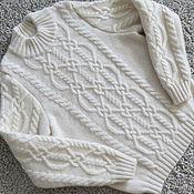 """Работы для детей, ручной работы. Ярмарка Мастеров - ручная работа Кашемировый свитер для девочки """"Winter white"""". Handmade."""