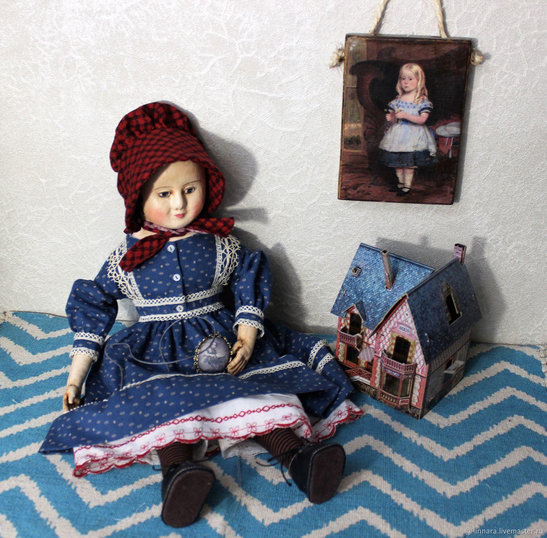 Репродукция кукол Izannah Walker  Эми 19 век 18 1/2 дюйма, Куклы и пупсы, Химки,  Фото №1