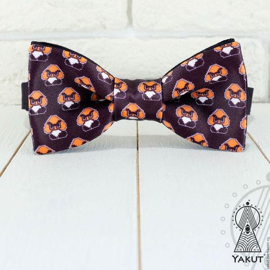 Галстуки, бабочки ручной работы. Ярмарка Мастеров - ручная работа. Купить Бабочка галстук Гумба из Супер Марио / бабочка-галстук гик, геймер. Handmade.