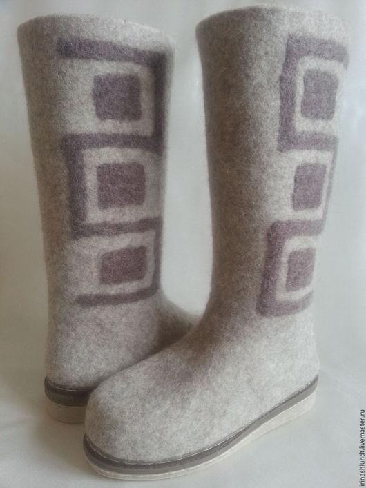 Обувь ручной работы. Ярмарка Мастеров - ручная работа. Купить Сапоги валяные женские. Handmade. Сапоги ручной работы