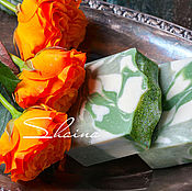 Косметика ручной работы. Ярмарка Мастеров - ручная работа МОЖЖЕВЕЛОВОЕ мыло с зеленой глиной. Handmade.