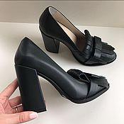 Обувь ручной работы. Ярмарка Мастеров - ручная работа Туфли с чёлкой. Handmade.