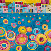 Аксессуары ручной работы. Ярмарка Мастеров - ручная работа Primavera - шелковый платок с ручной росписью. Handmade.