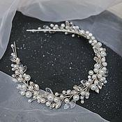 Свадебный салон handmade. Livemaster - original item Wedding band with pearl beads and rhinestones. Handmade.