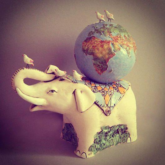 Элементы интерьера ручной работы. Ярмарка Мастеров - ручная работа. Купить Слон. Handmade. Слоник, слон, слоник в подарок