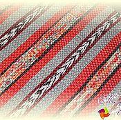 """Ковры ручной работы. Ярмарка Мастеров - ручная работа Домотканый коврик / половик / дорожка """"Рыжая коса"""" № 1578. Handmade."""