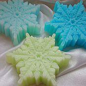 Косметика ручной работы. Ярмарка Мастеров - ручная работа Мыло снежинка большая. Новогоднее мыло (5). Handmade.