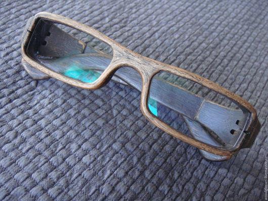 Очки ручной работы. Ярмарка Мастеров - ручная работа. Купить Деревянная оправа для очков. Handmade. Необычные очки, дуб состаренный