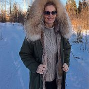 Одежда handmade. Livemaster - original item The jacket is lined with fur of the lynx. Handmade.