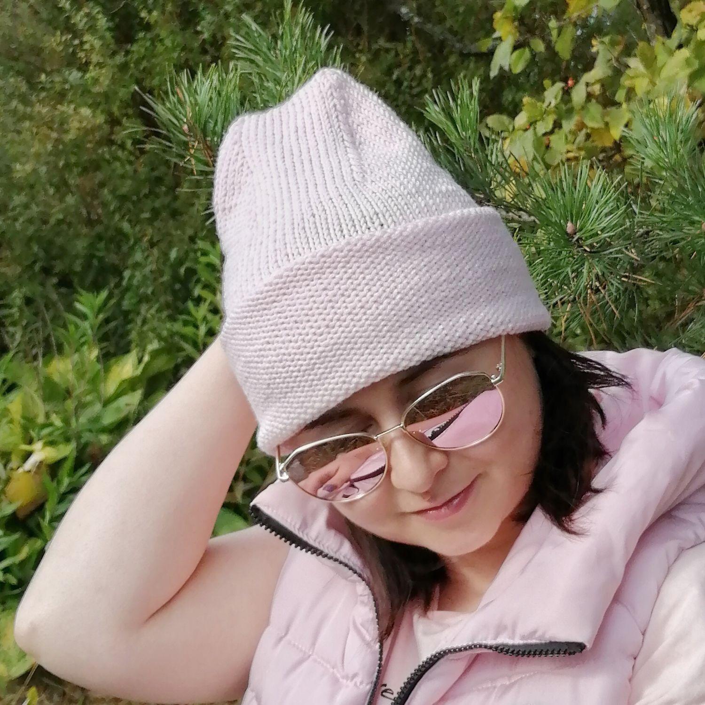 Шапка Бини бледно-розовая, Шапки, Москва,  Фото №1