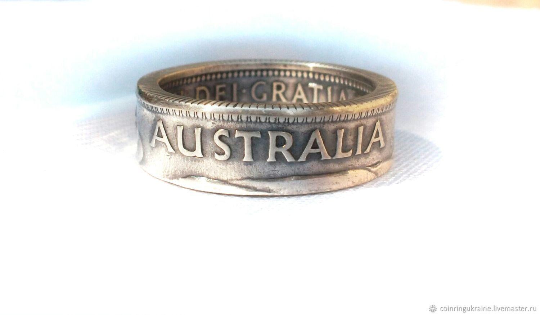 Кольцо из монеты 1 шиллинг Австралия, Кольца, Малин,  Фото №1