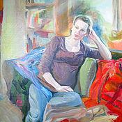 Картины и панно ручной работы. Ярмарка Мастеров - ручная работа Картина. В ожидании. Handmade.