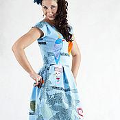 """Одежда ручной работы. Ярмарка Мастеров - ручная работа Платье """"Голубое"""". Handmade."""