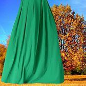 """Одежда ручной работы. Ярмарка Мастеров - ручная работа Изумрудная юбка из джерси """"Смарагд"""". Handmade."""