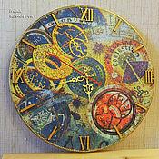 """Для дома и интерьера ручной работы. Ярмарка Мастеров - ручная работа """"Зодиак"""", часы. Handmade."""