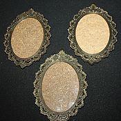 Винтаж handmade. Livemaster - original item Beautiful, openwork, wall frames, bronze, Italy, 1960s. Handmade.