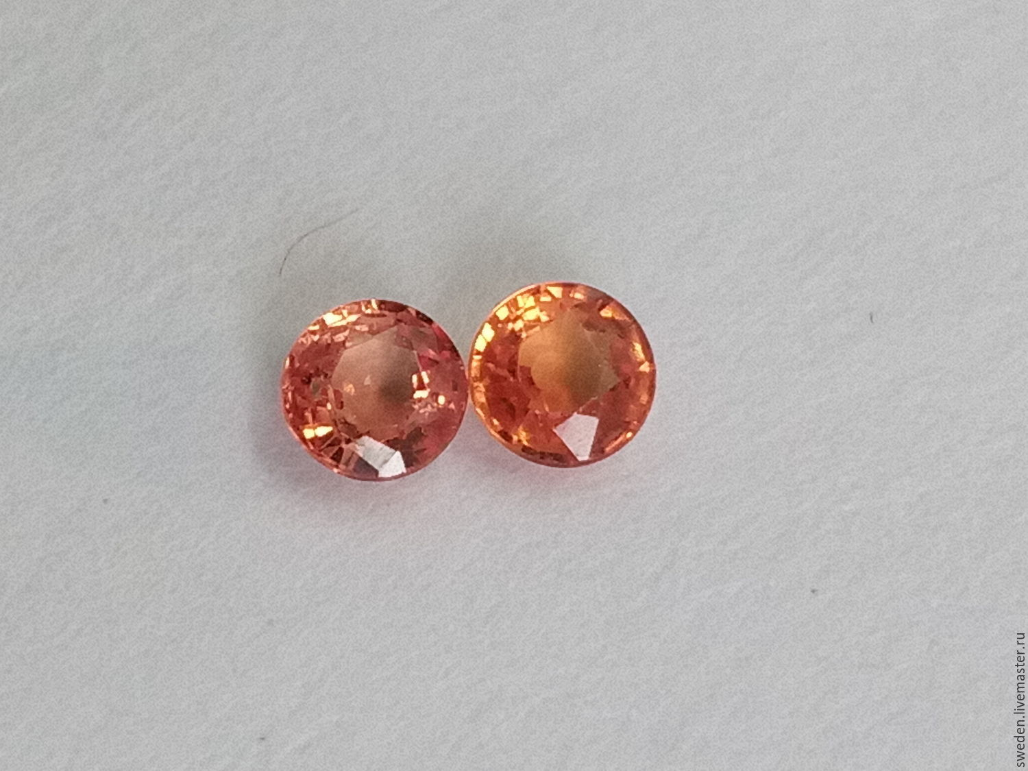 best color products deller padparadscha sapphire drop modernity earrings peach dakota cut cushion