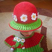 Работы для детей, ручной работы. Ярмарка Мастеров - ручная работа Комплект Ягодка-клубничка. Handmade.