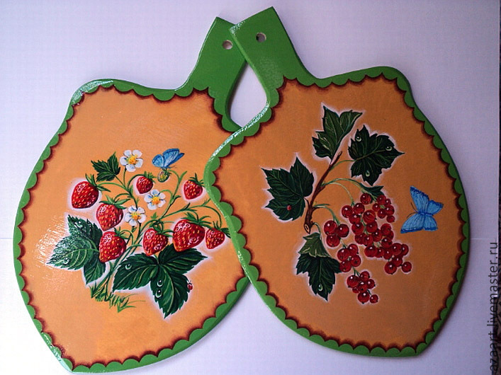 A set of coasters under hot 'Berries'.Painting, Hot stand, Ufa,  Фото №1