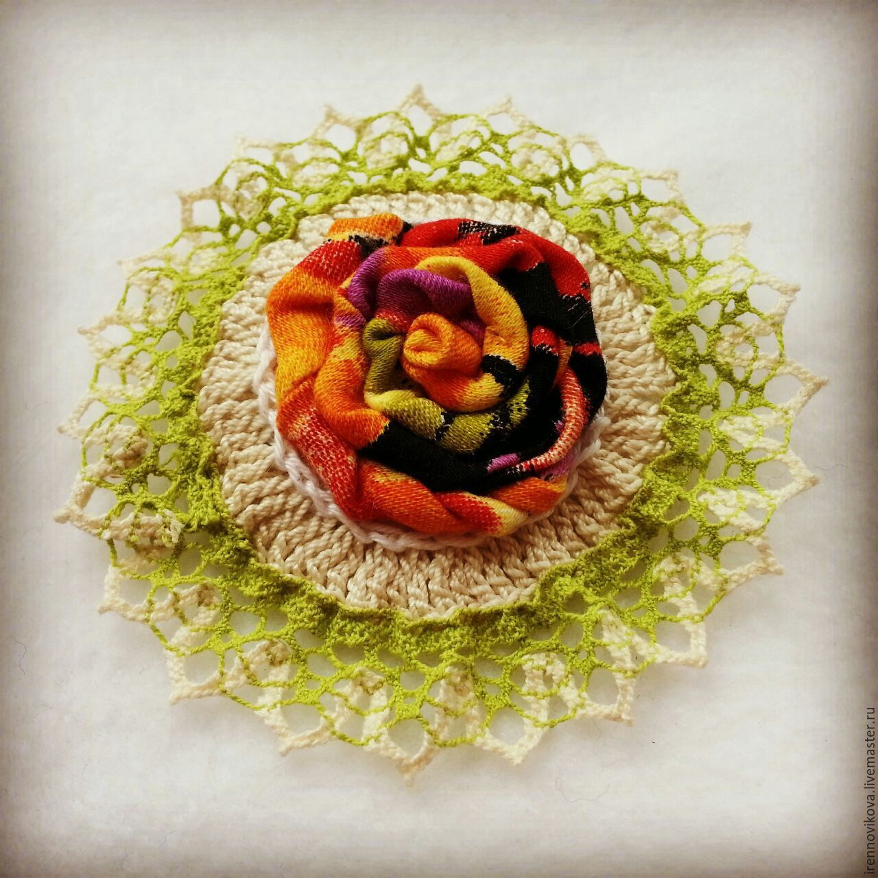 Brooch textile (3), Brooches, Moscow,  Фото №1