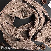 Шерстяной огромный шарф