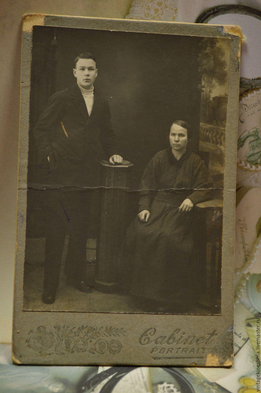 мать и сын винтажное