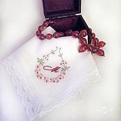 Аксессуары handmade. Livemaster - original item Handkerchief women`s Batiste lace monogram. Handmade.