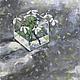 Картины цветов ручной работы. Ярмарка Мастеров - ручная работа. Купить Подснежники. Handmade. Серый, синий, васильковый, натюрморт, Живопись
