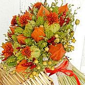 Цветы и флористика ручной работы. Ярмарка Мастеров - ручная работа «Рalette of happiness» букет из сухоцветов. Handmade.