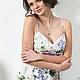Платья ручной работы. Ярмарка Мастеров - ручная работа. Купить Платье Flowers blossom. Handmade. Голубой, романтическое платье, сатин