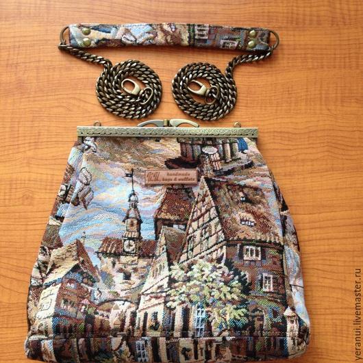 Женские сумки ручной работы. Ярмарка Мастеров - ручная работа. Купить Сумка гобеленовая. Handmade. Разноцветный, гобеленовая сумка