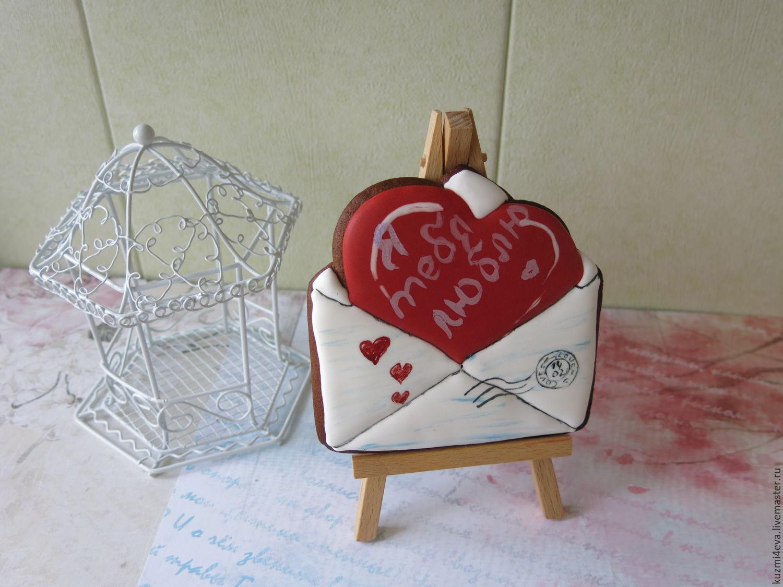 Имбирный пряник Конверт с сердцем, Подарки, Москва, Фото №1