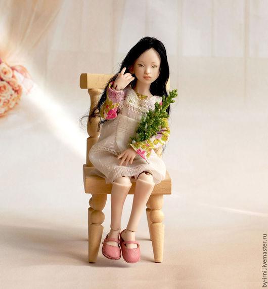 Коллекционные куклы ручной работы. Ярмарка Мастеров - ручная работа. Купить ХиДжин (фарфоровая шарнирная кукла). Handmade. Тёмно-синий