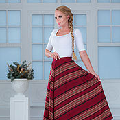 Одежда handmade. Livemaster - original item The skirt is a herringbone red-Burgundy. Handmade.