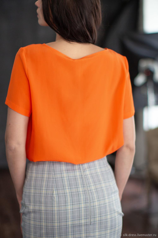 6655ac2b465 Блуза из шелка.  К. О.  Женская одежда. Блузки ручной работы. Ярмарка  Мастеров - ручная работа. Купить ...