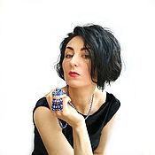 Украшения handmade. Livemaster - original item set of pearl Swarovski. Necklace. earrings. decoration. SWAROVSKI. Handmade.