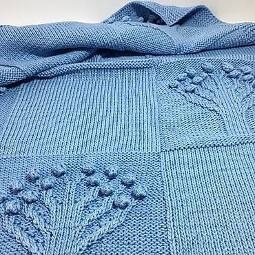 Текстиль ручной работы. Ярмарка Мастеров - ручная работа Вязаный плед для новорожденного. Handmade.